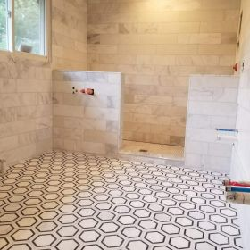 octogon floor custom shower USE